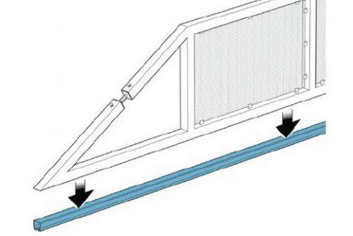 Схема раздвижных ворот.